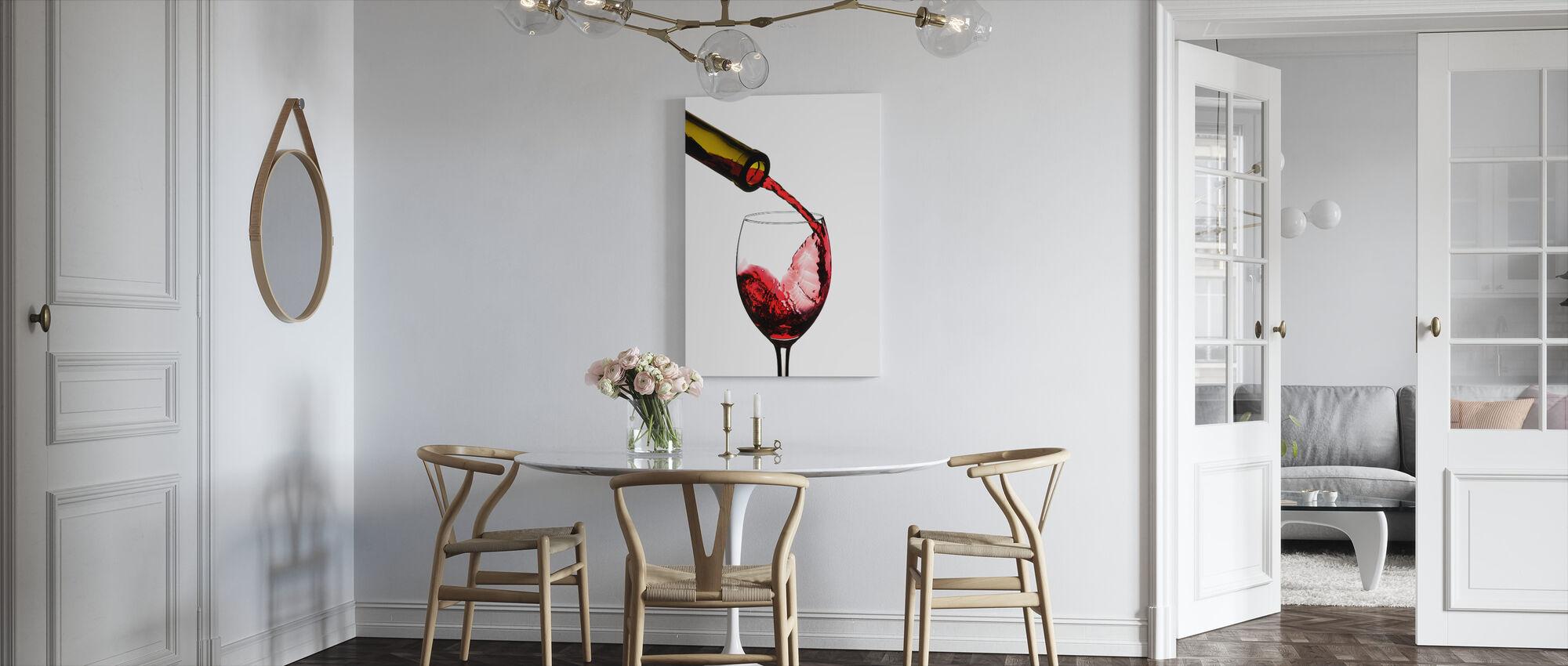 Rødvin Pour - Lerretsbilde - Kjøkken