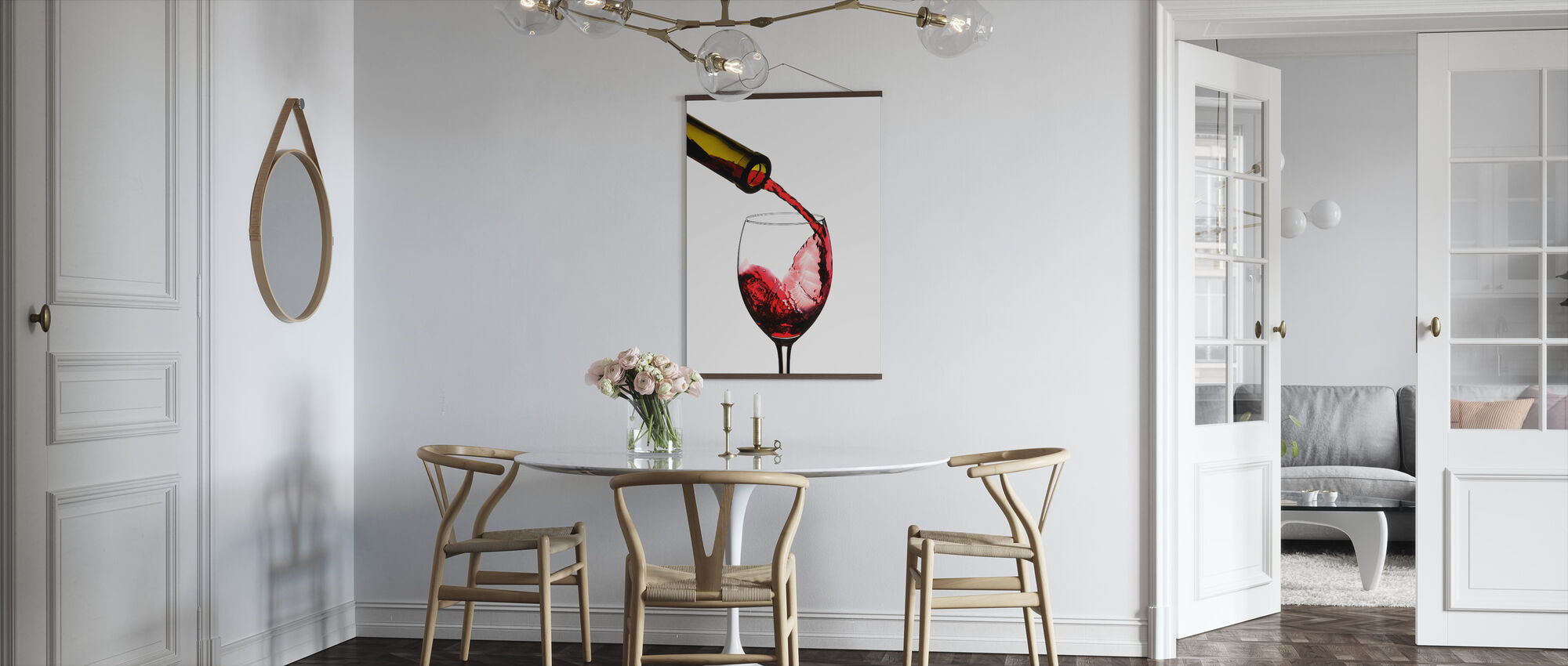 Red Wine Pour - Poster - Kitchen
