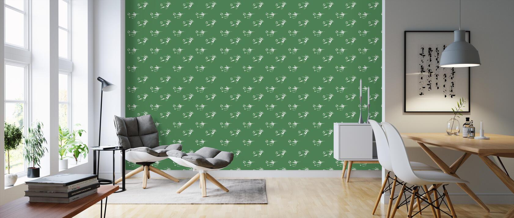 kick it green pattern eine tapete f r jeden raum und. Black Bedroom Furniture Sets. Home Design Ideas