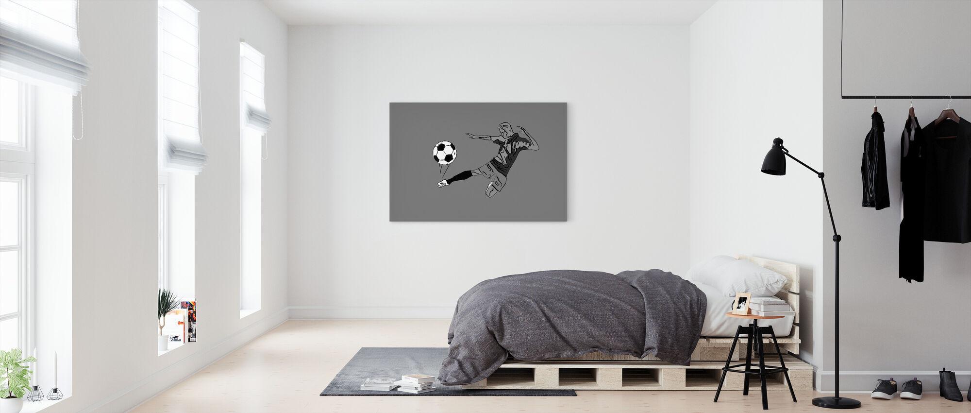 Kick It - Grau - Leinwandbild - Schlafzimmer