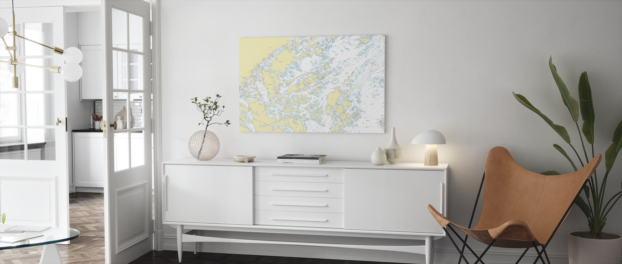Boat sports cards - Canvas print - Living Room