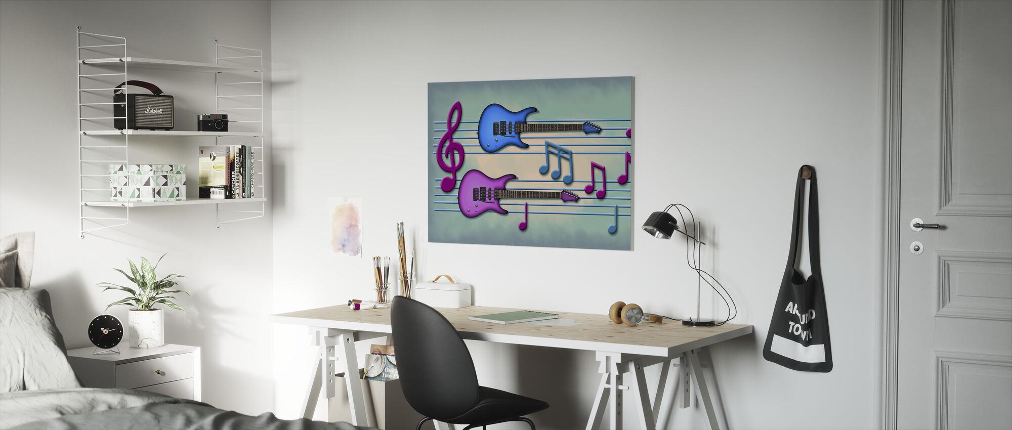 Farger av musikk - Lerretsbilde - Barnerom