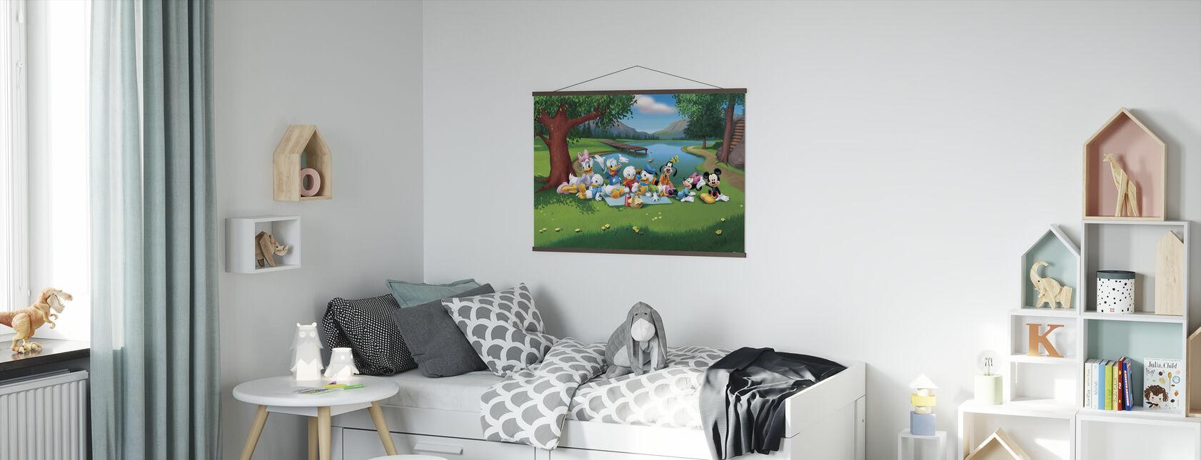 Mikki ja ystävät - Lampi - Juliste - Lastenhuone