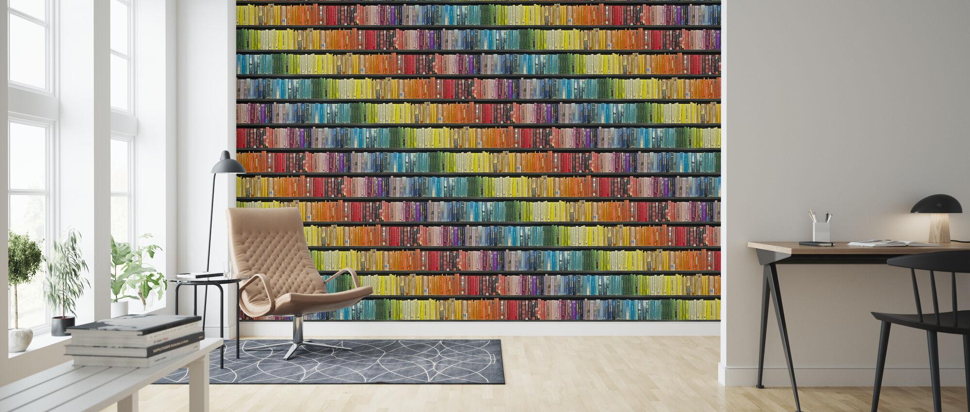 Bookshelf - Pride - Wallpaper - Living Room