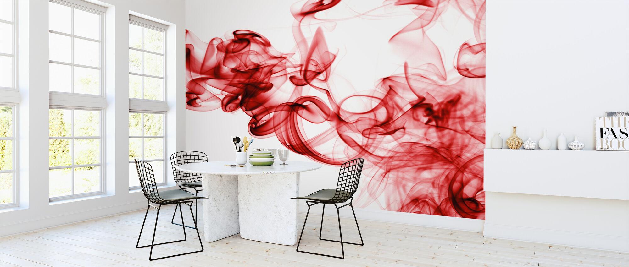 Red Smoke - Wallpaper - Kitchen