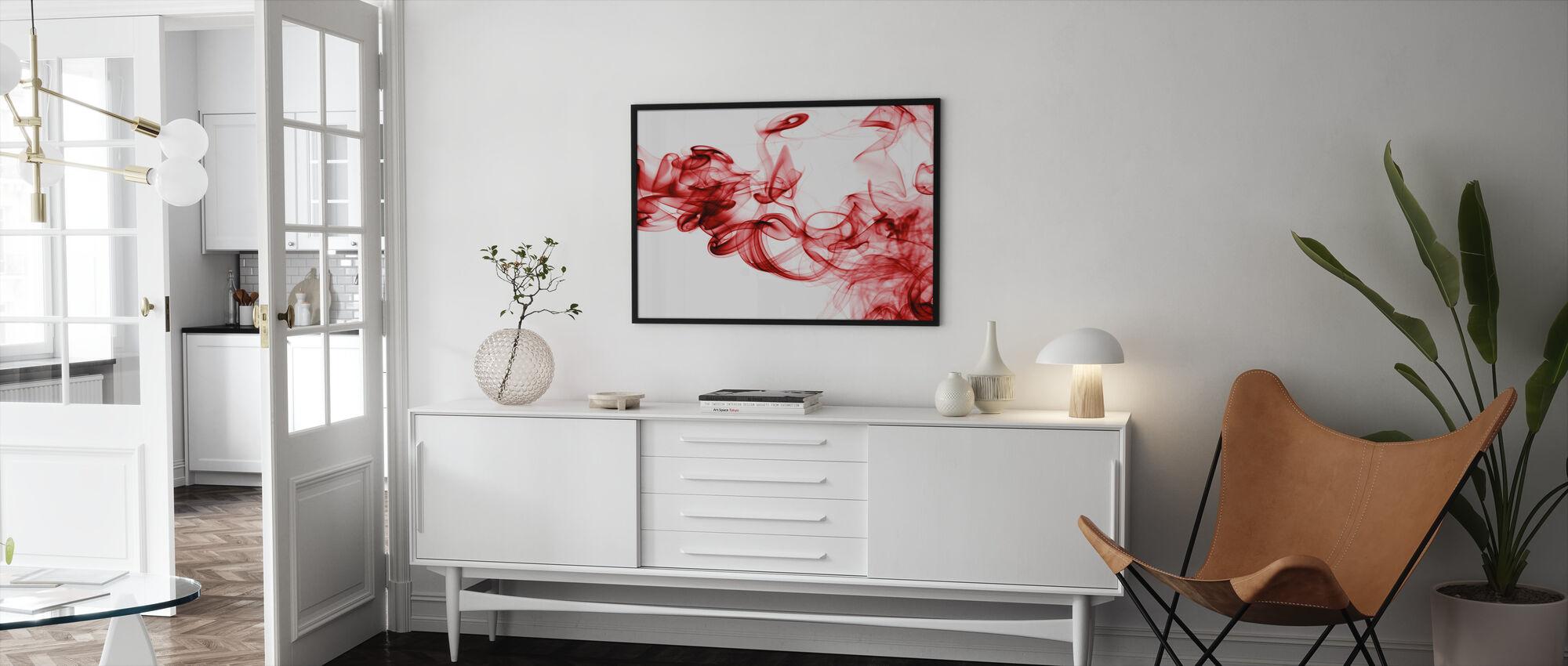Punainen savu - Kehystetty kuva - Olohuone