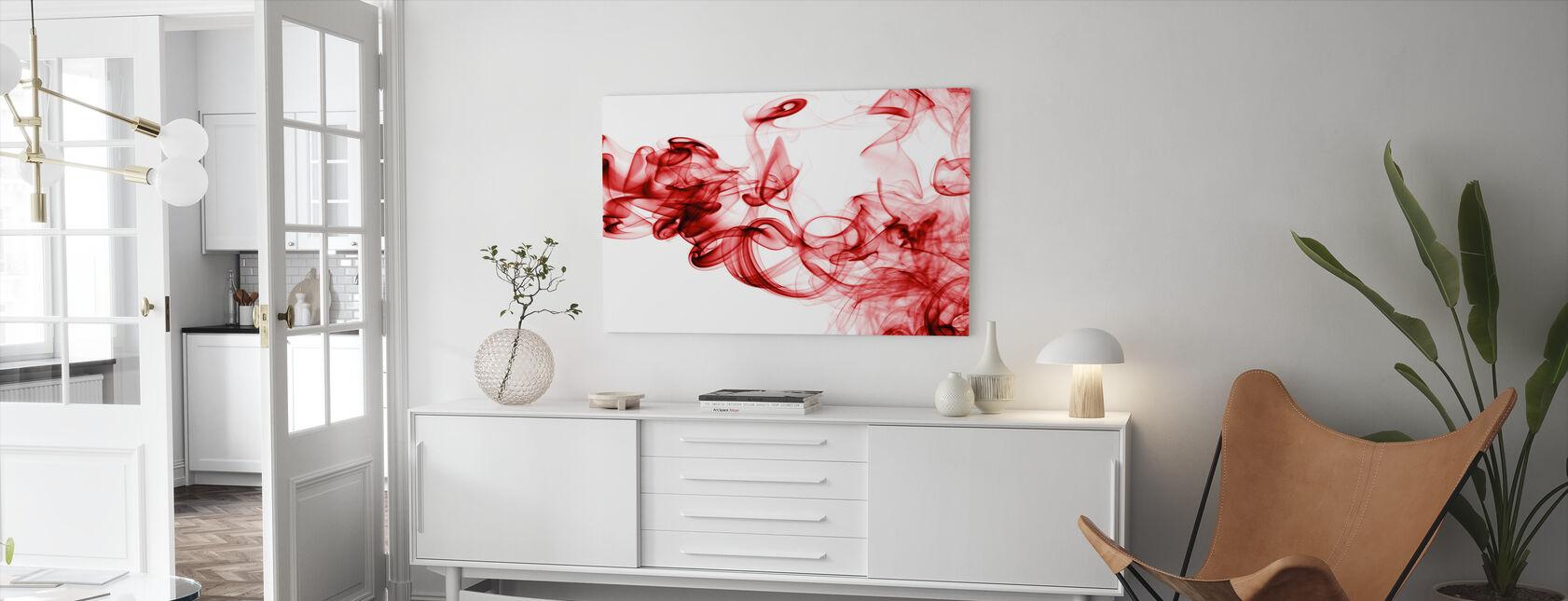 Roter Rauch - Leinwandbild - Wohnzimmer