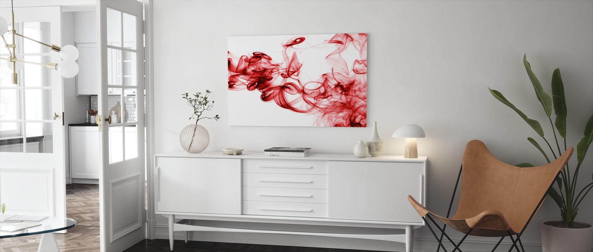 Red Smoke - Canvas print - Living Room