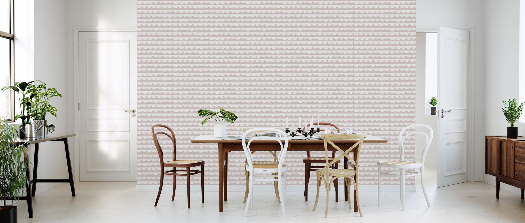 Changing Waves - Pink - Wallpaper - Kitchen