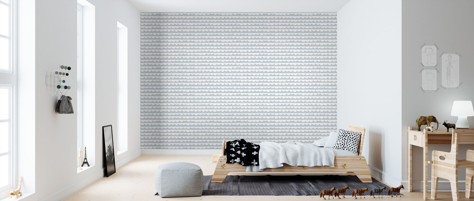 Changing Waves - Blue - Wallpaper - Kids Room