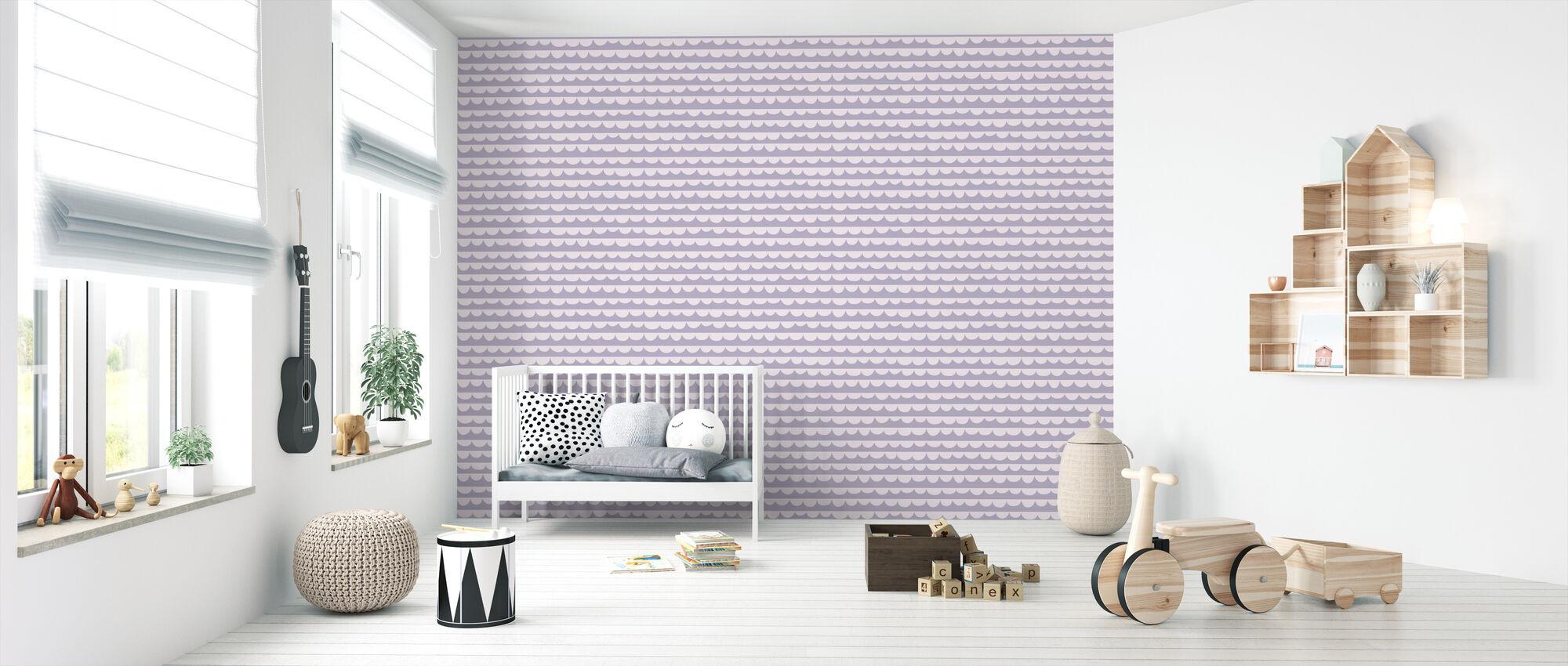Changing Waves - Purple - Wallpaper - Nursery