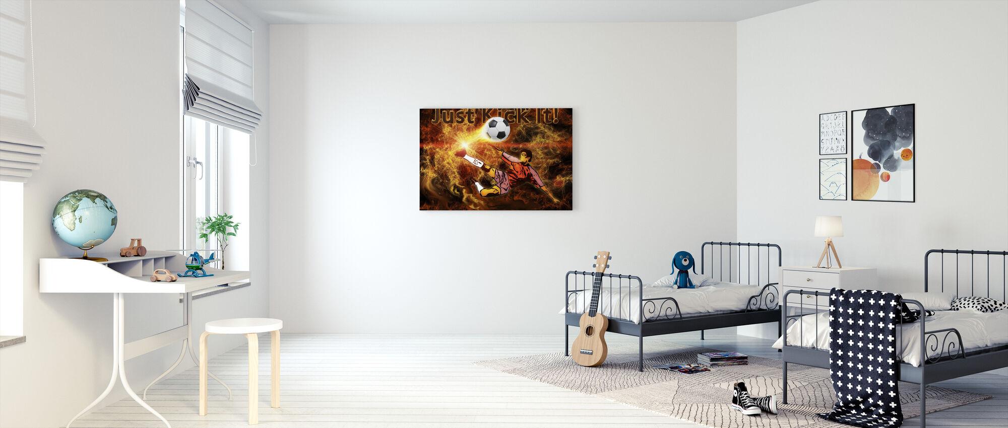 Soccer Heat - Canvas print - Kids Room
