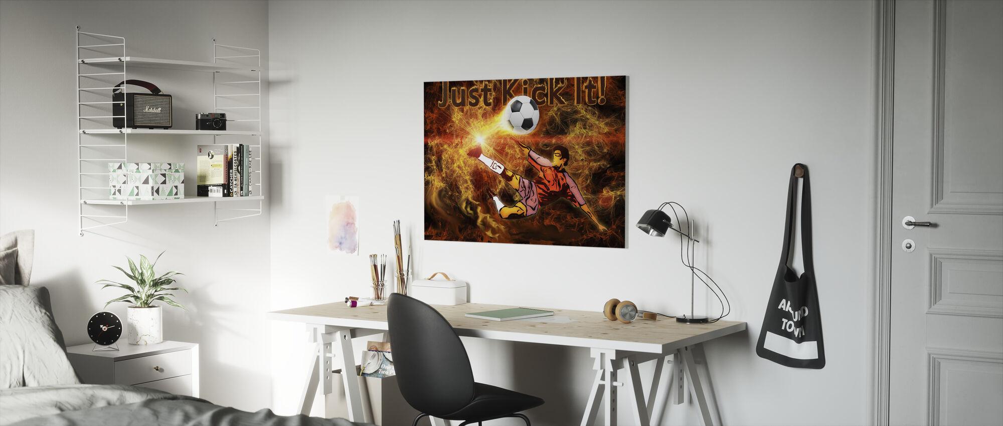 Voetbal Warmte - Canvas print - Kinderkamer
