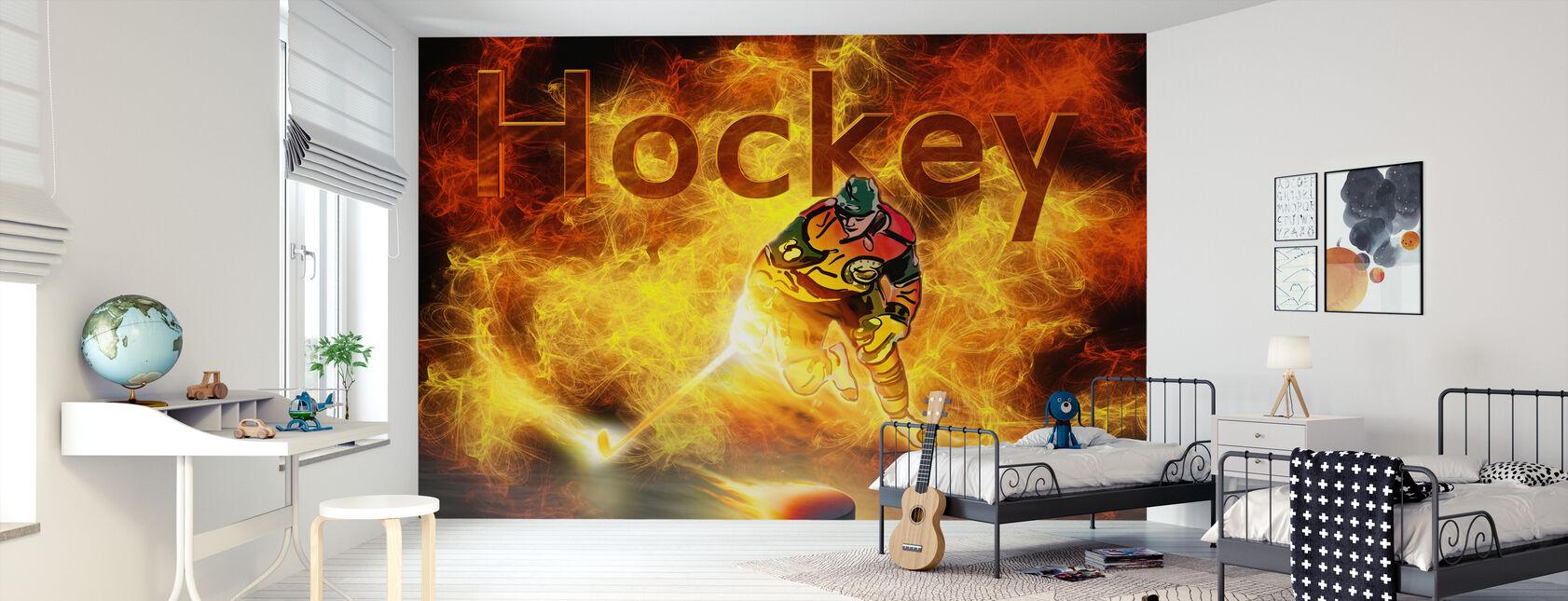 Hockeywärme - Tapete - Kinderzimmer