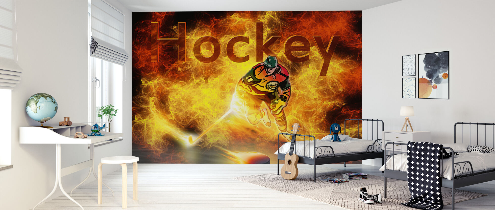 Hockey värme - Tapet - Barnrum
