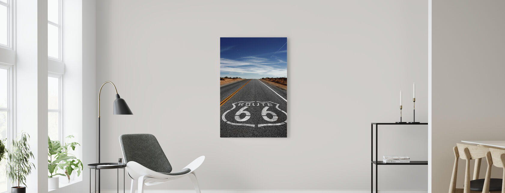 Route 66 On the Road Again - Canvas print - Living Room