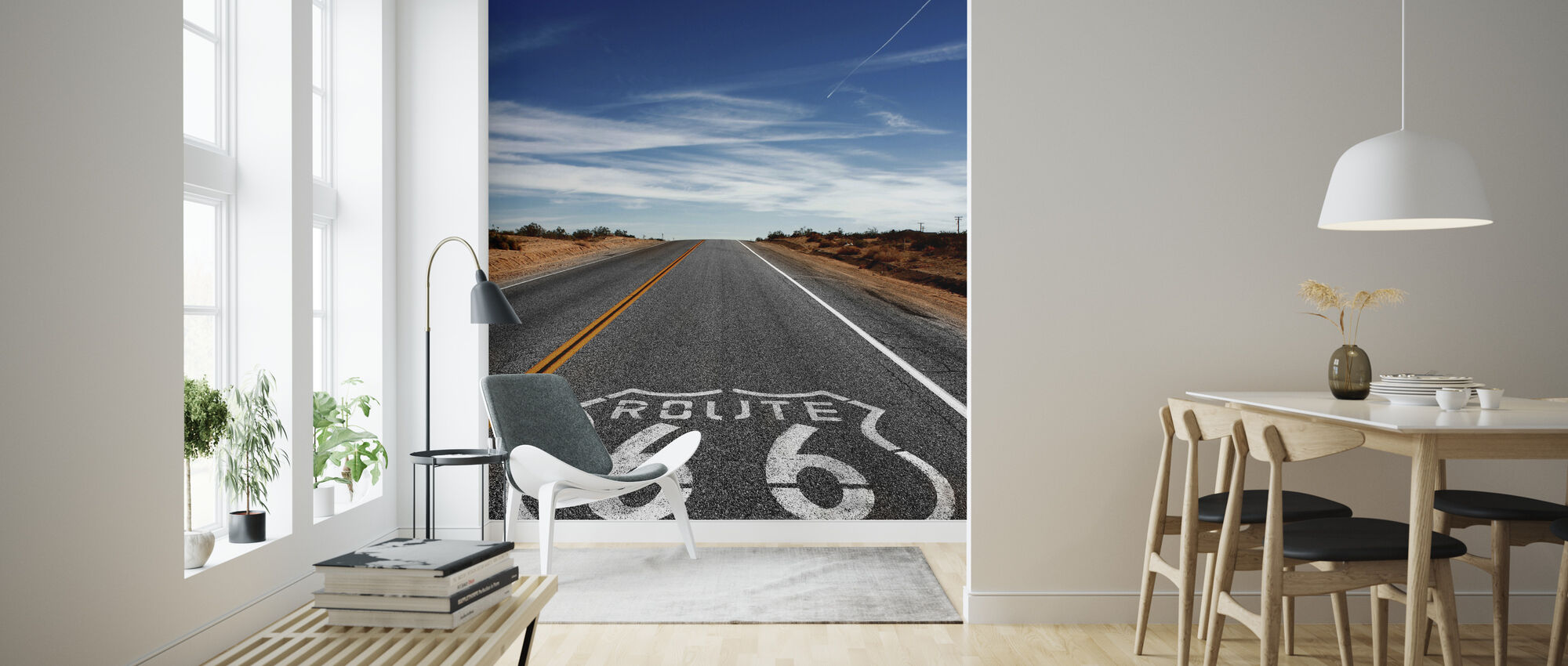 Route 66 On the Road Again - Wallpaper - Living Room