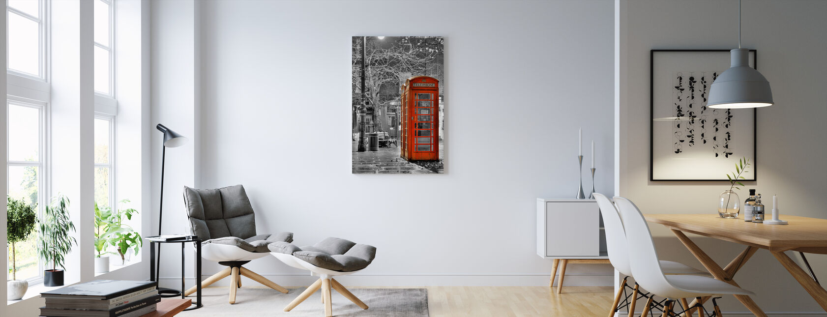London Phone - Canvas print - Living Room