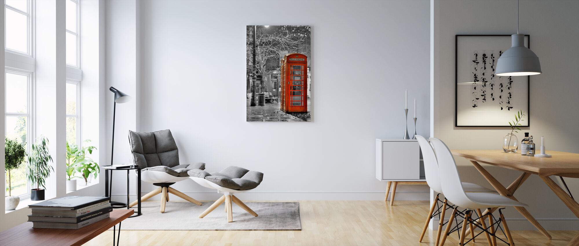 London telefon - Lerretsbilde - Stue