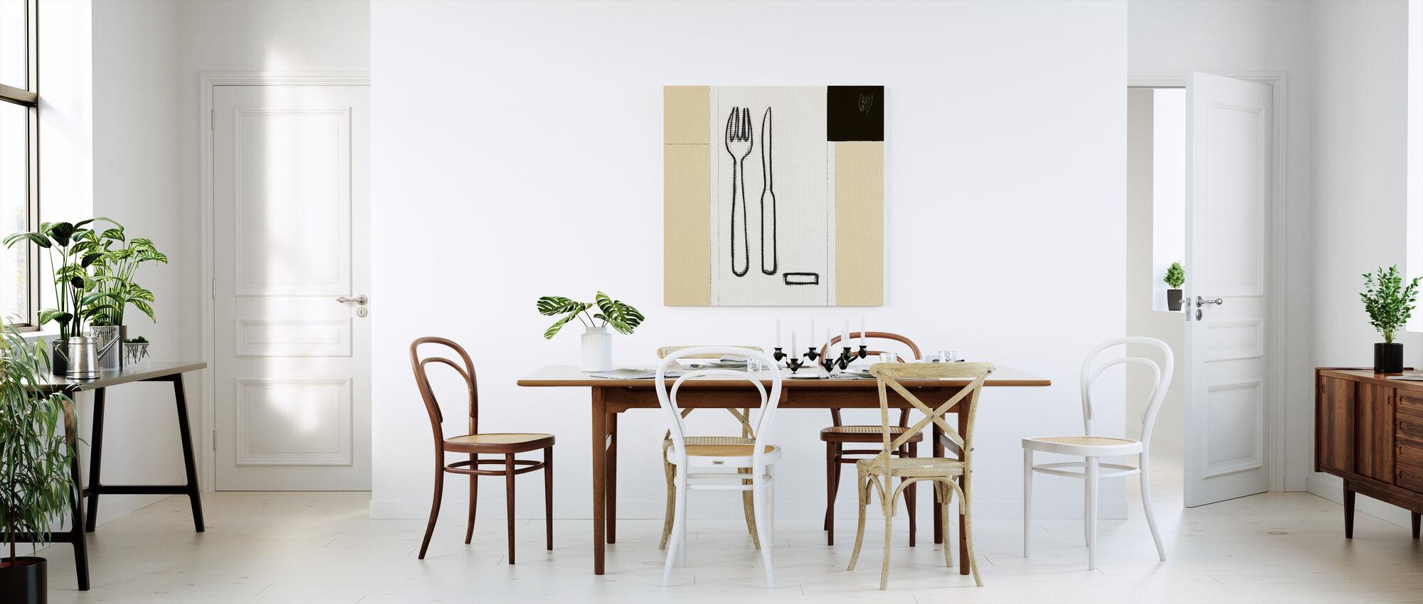 Widelec i nóż - Obraz na płótnie - Kuchnia