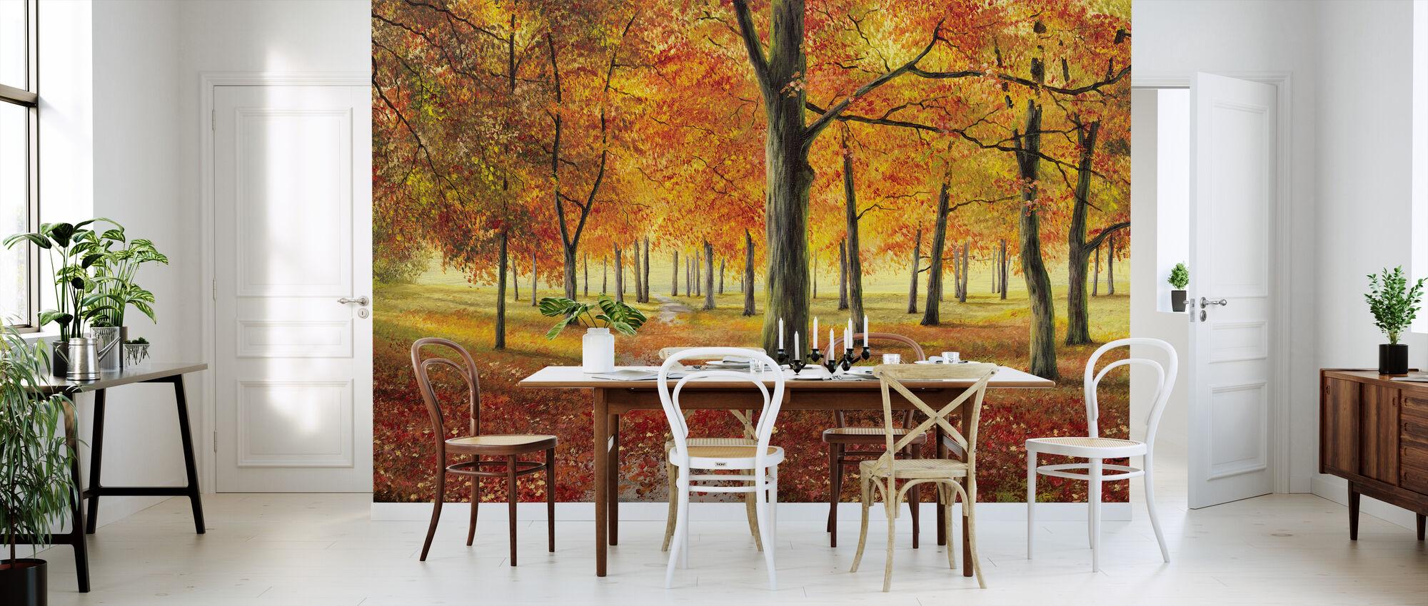 Herbstimpression - Behang - Keuken