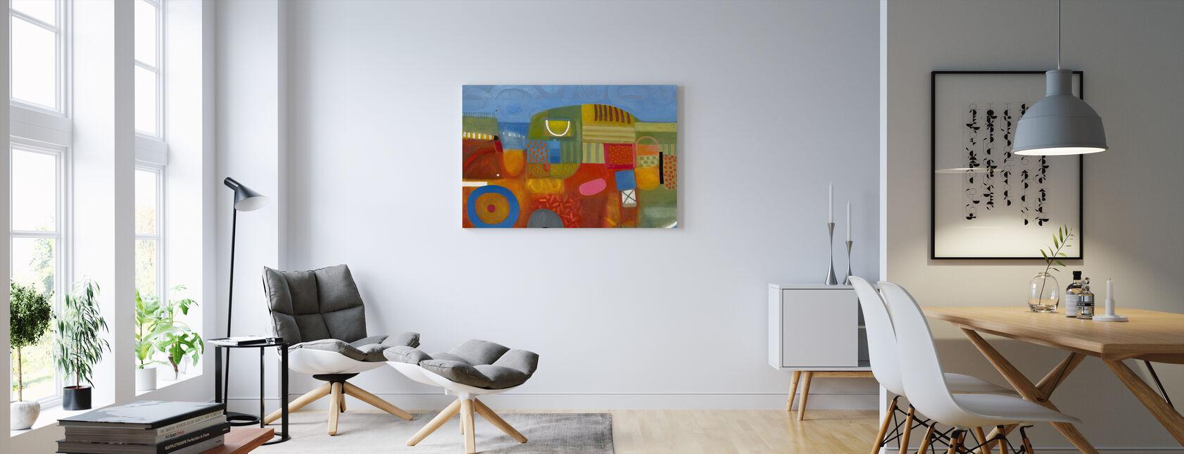 Summer Strawberry Field - Canvas print - Living Room