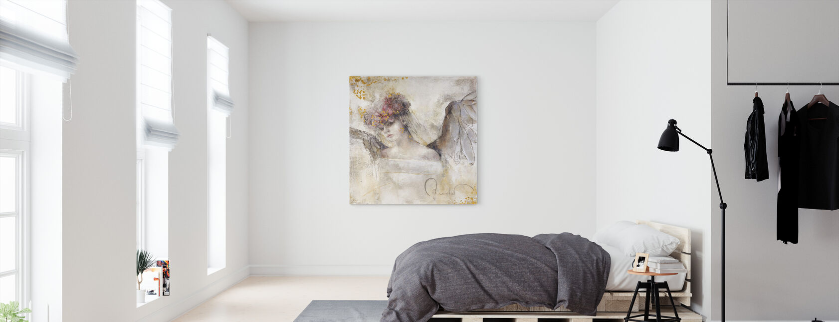 Flower angel - Canvas print - Bedroom