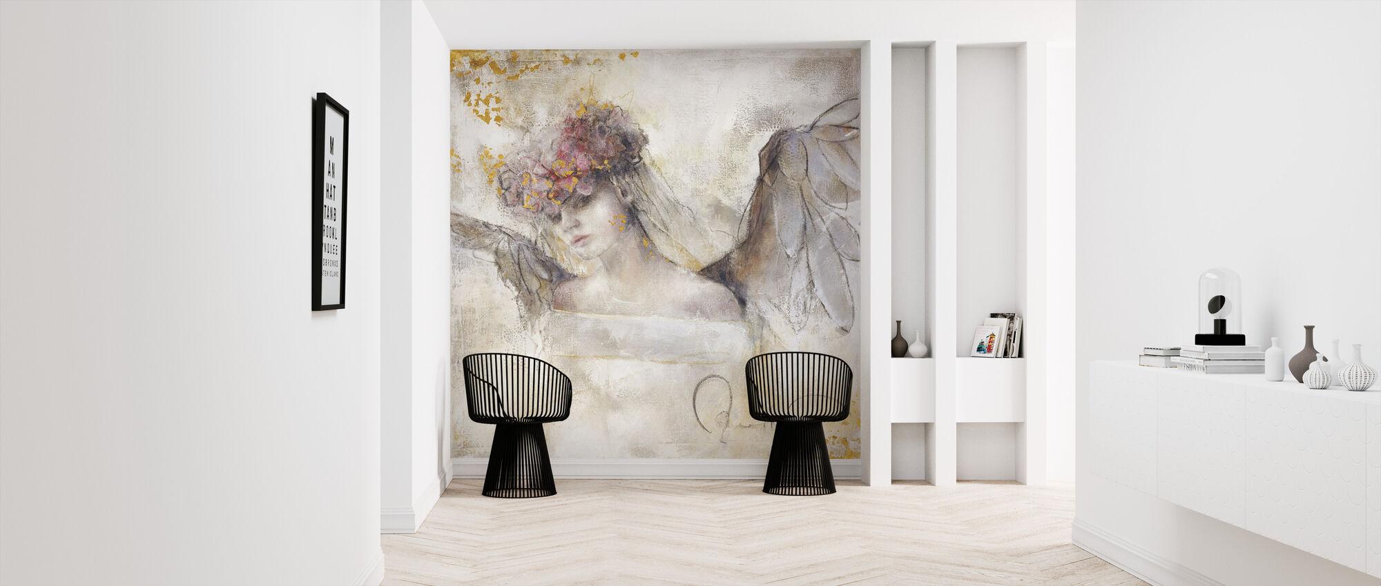 Blomst engel - Tapet - Entré