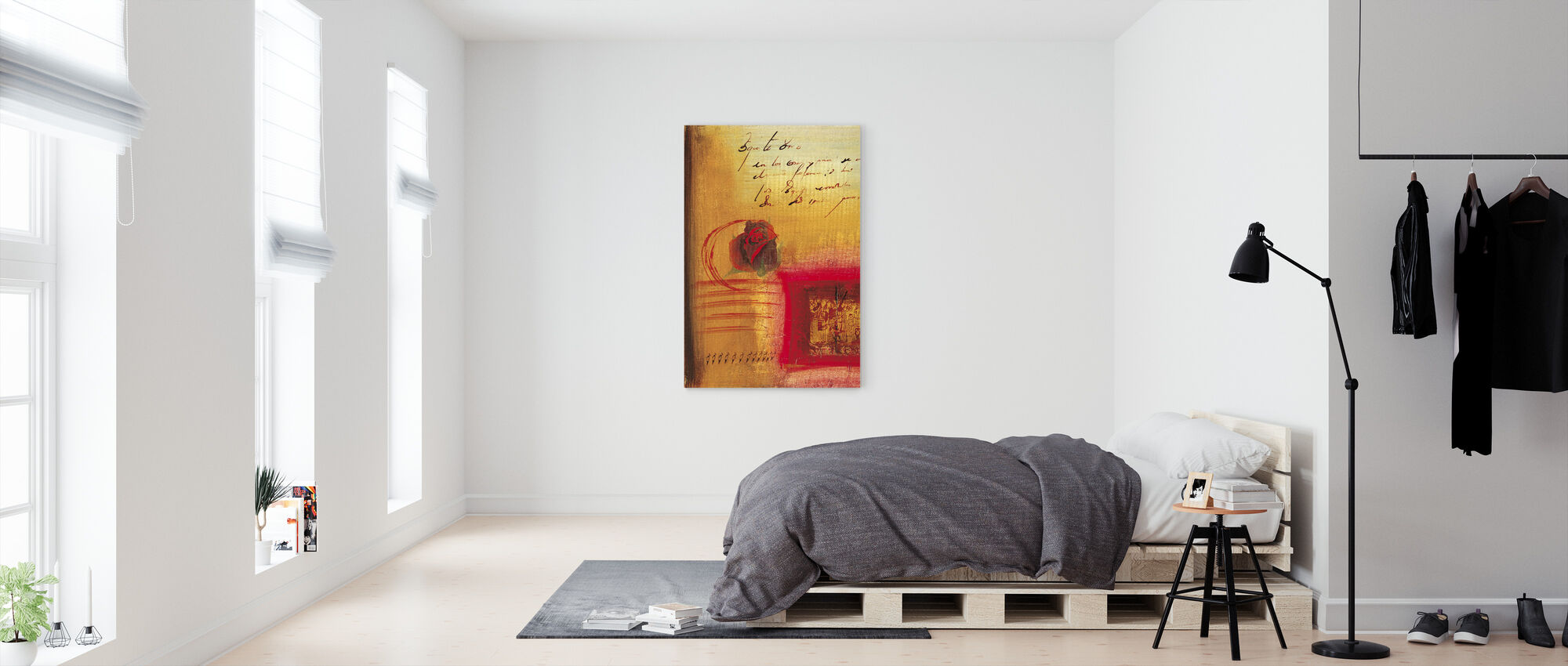 Here I love you I - Canvas print - Bedroom