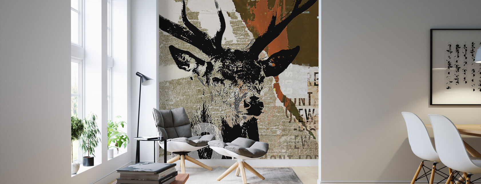 Hjort I - Tapet - Vardagsrum