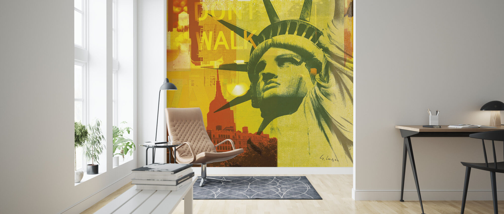 New York Dont Walk III - Wallpaper - Living Room