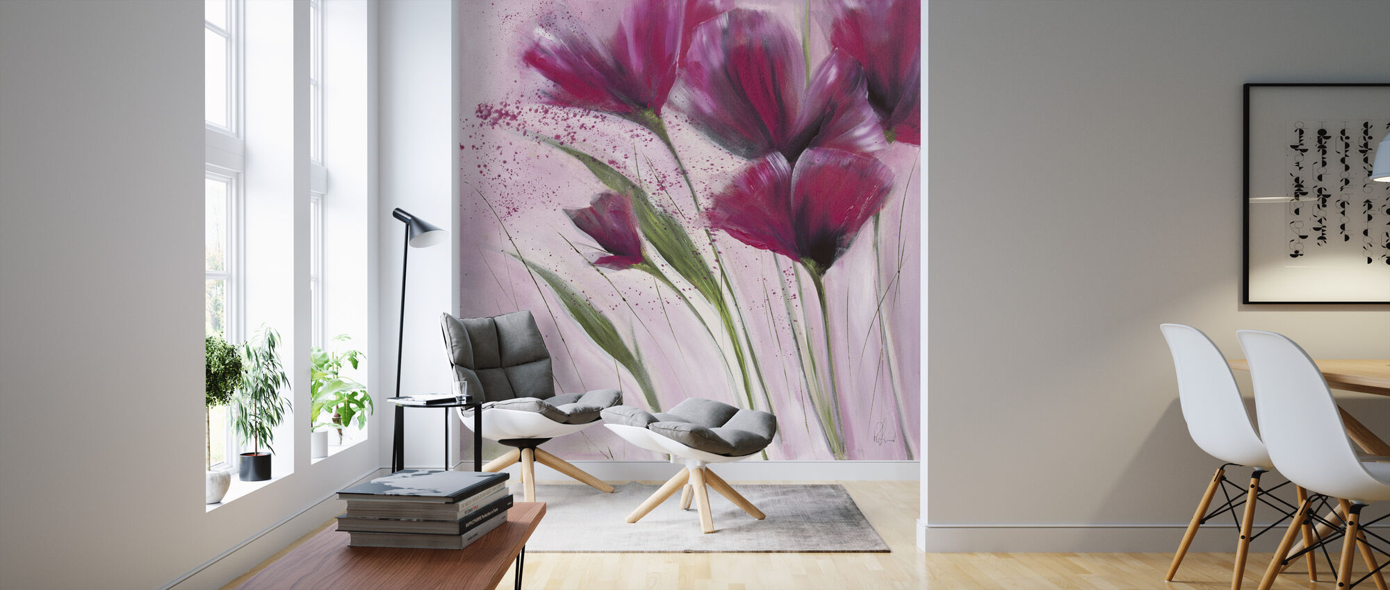 The Day in Pink II - Wallpaper - Living Room