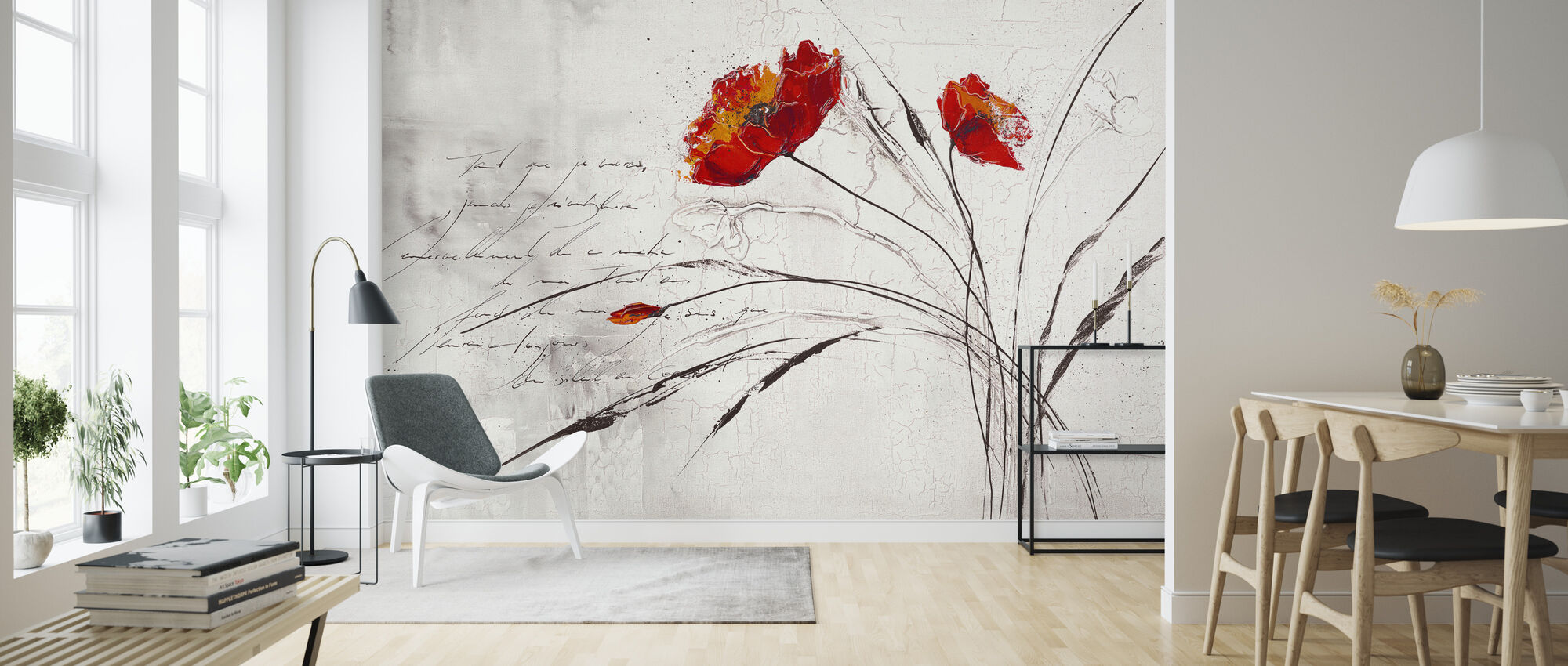 Flowered Dream IV - Wallpaper - Living Room