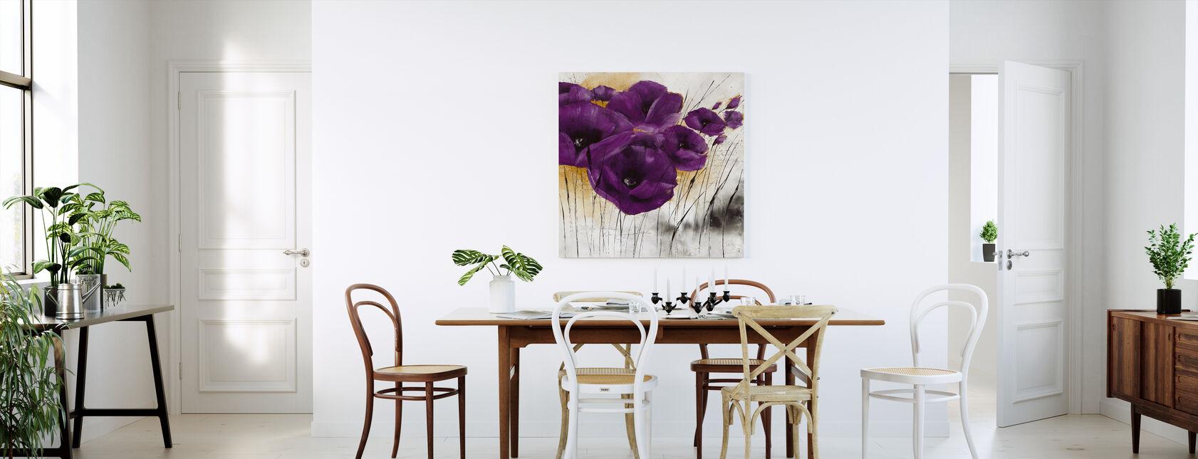 Pavot violetti IV - Canvastaulu - Keittiö