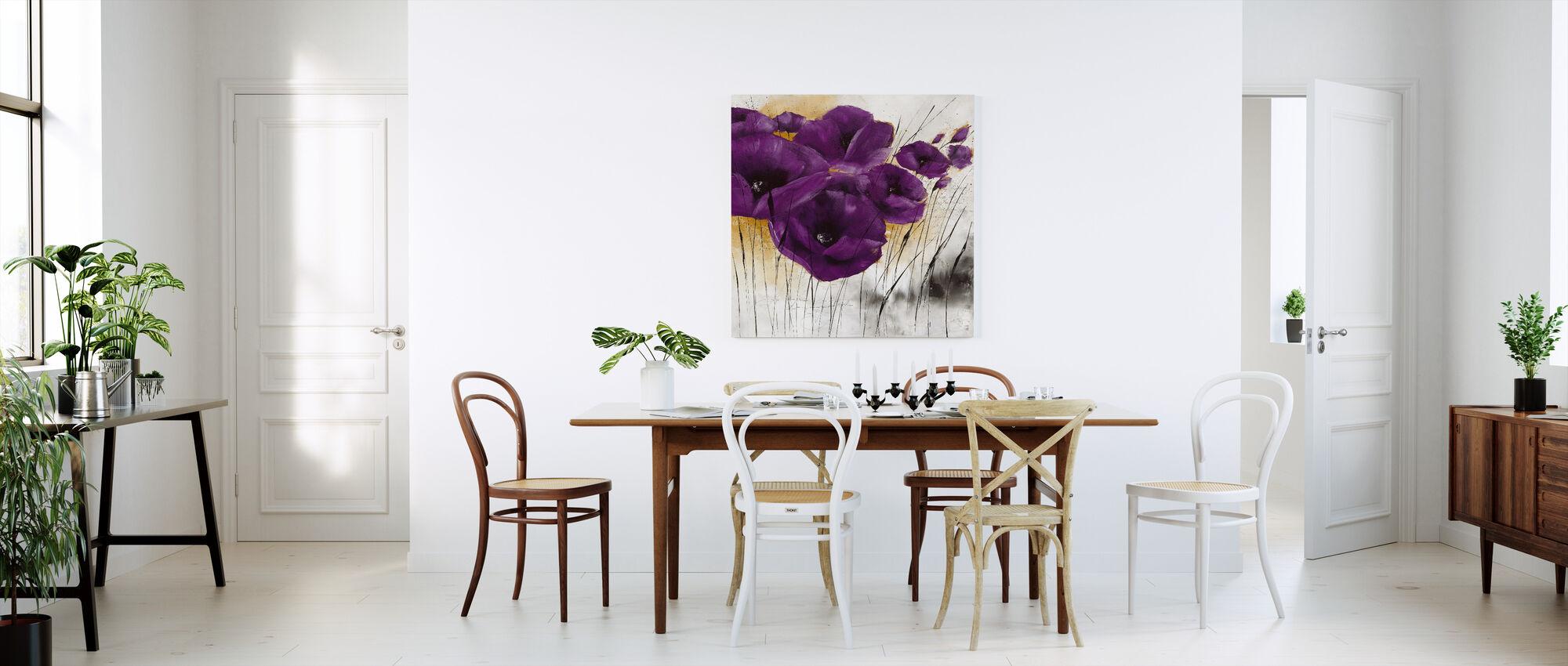 Pavot violet IV - Canvas print - Kitchen