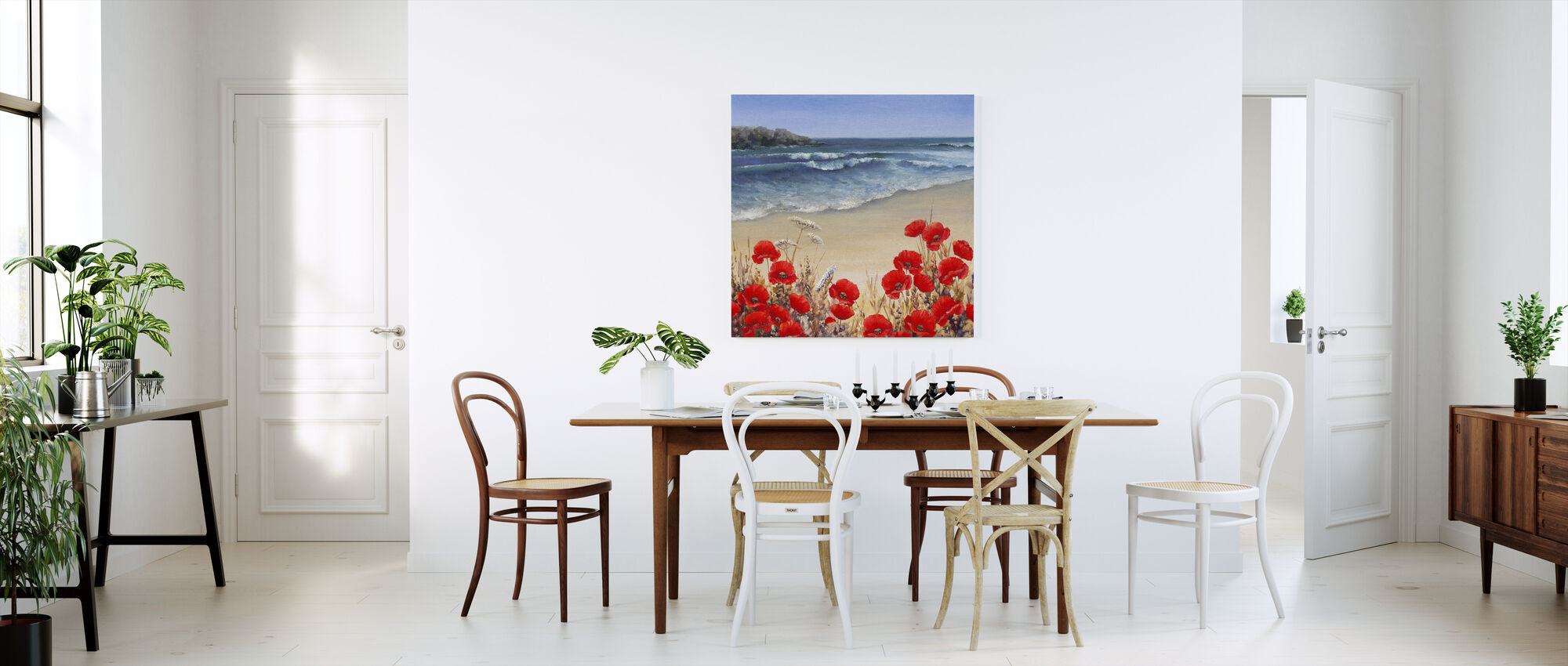 Poppy Tides - Canvas print - Kitchen