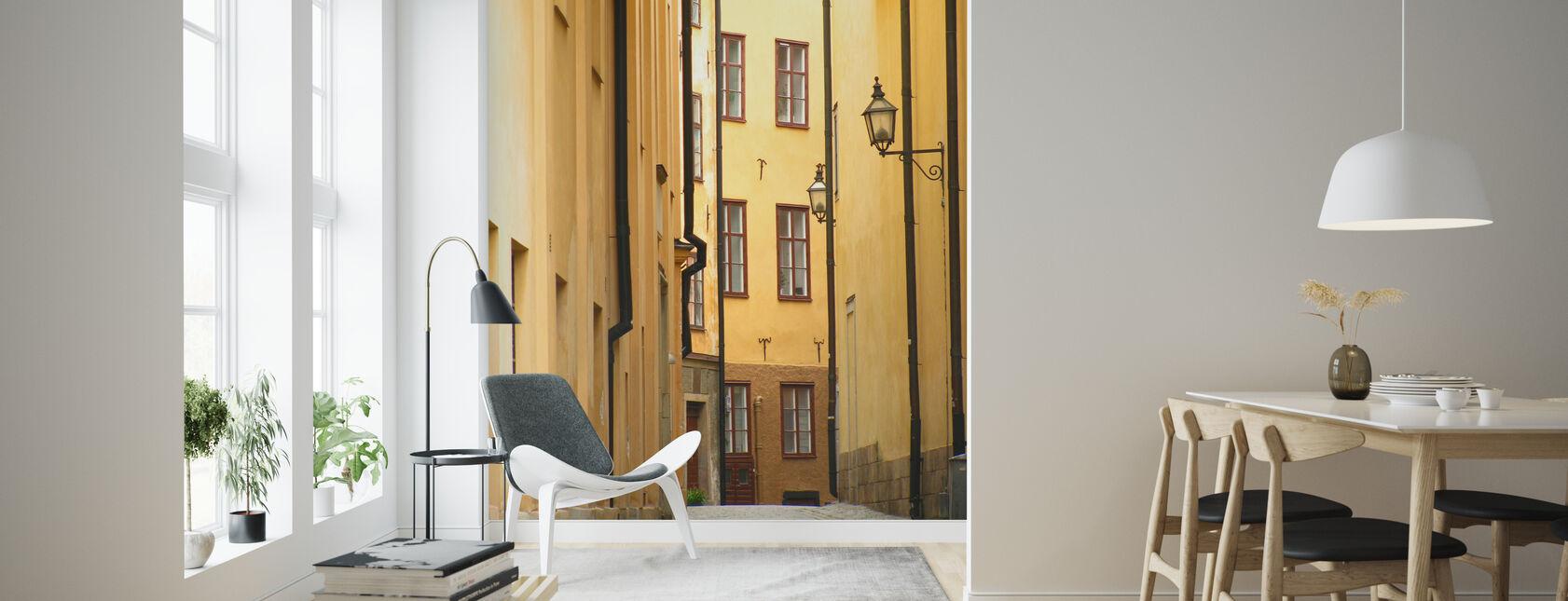 Stockholms smala gränd Gamla stan - Tapet - Vardagsrum