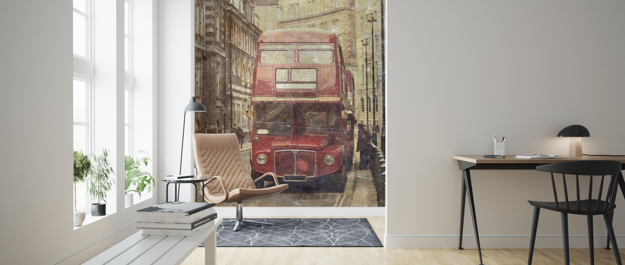 London Bus Route 9 - Wallpaper - Living Room