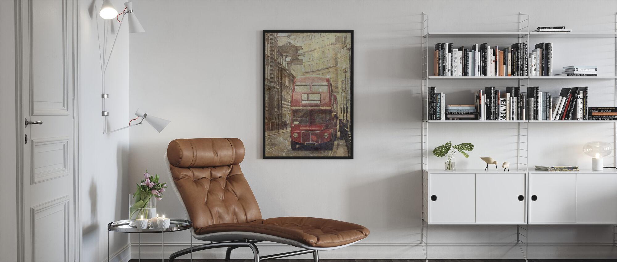 London Bus Route 9 - Framed print - Living Room