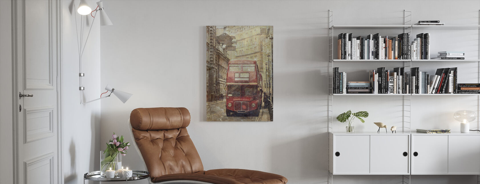 Lontoon bussireitti 9 - Canvastaulu - Olohuone