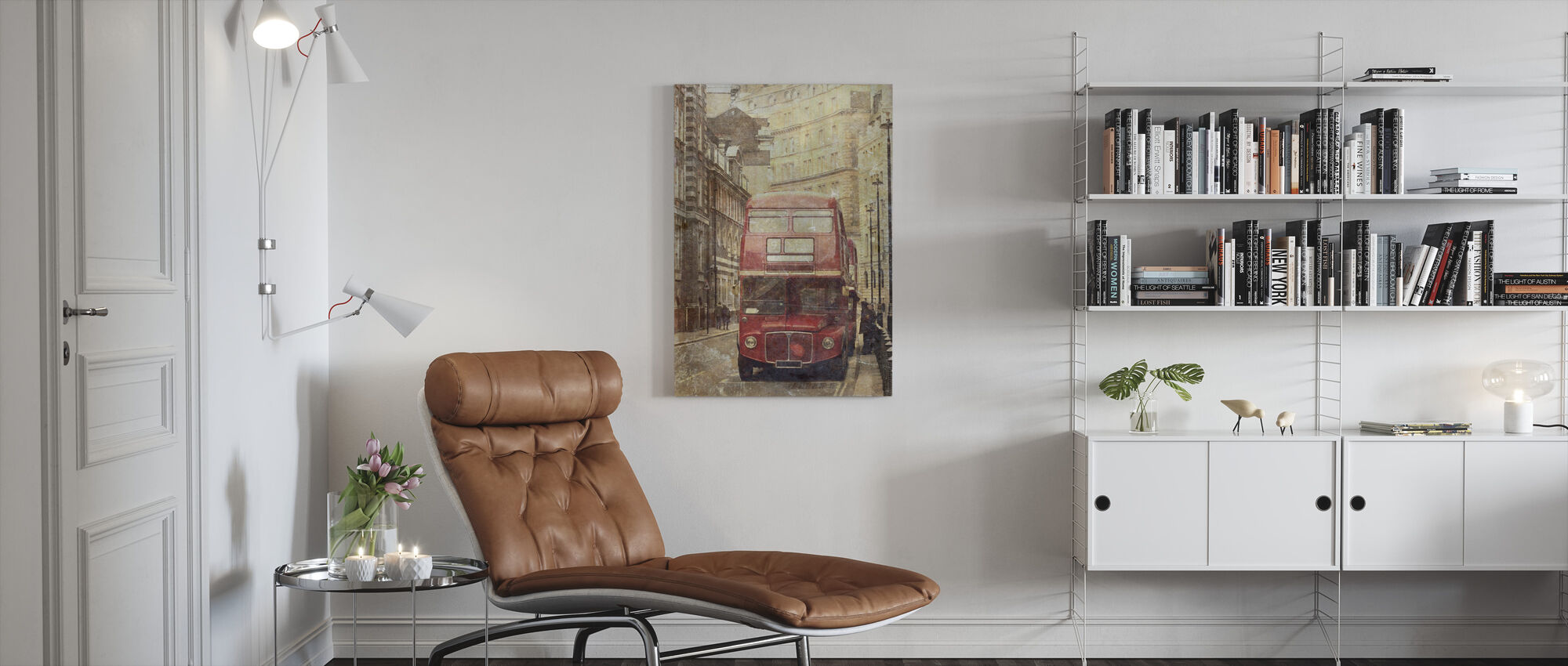 London Bus Route 9 - Canvas print - Living Room
