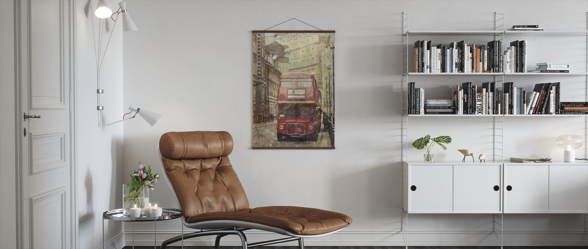 London Bus Route 9 - Poster - Living Room