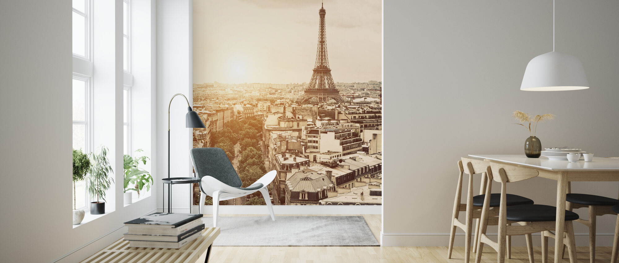 Paris - Eiffel Tower - Wallpaper - Living Room