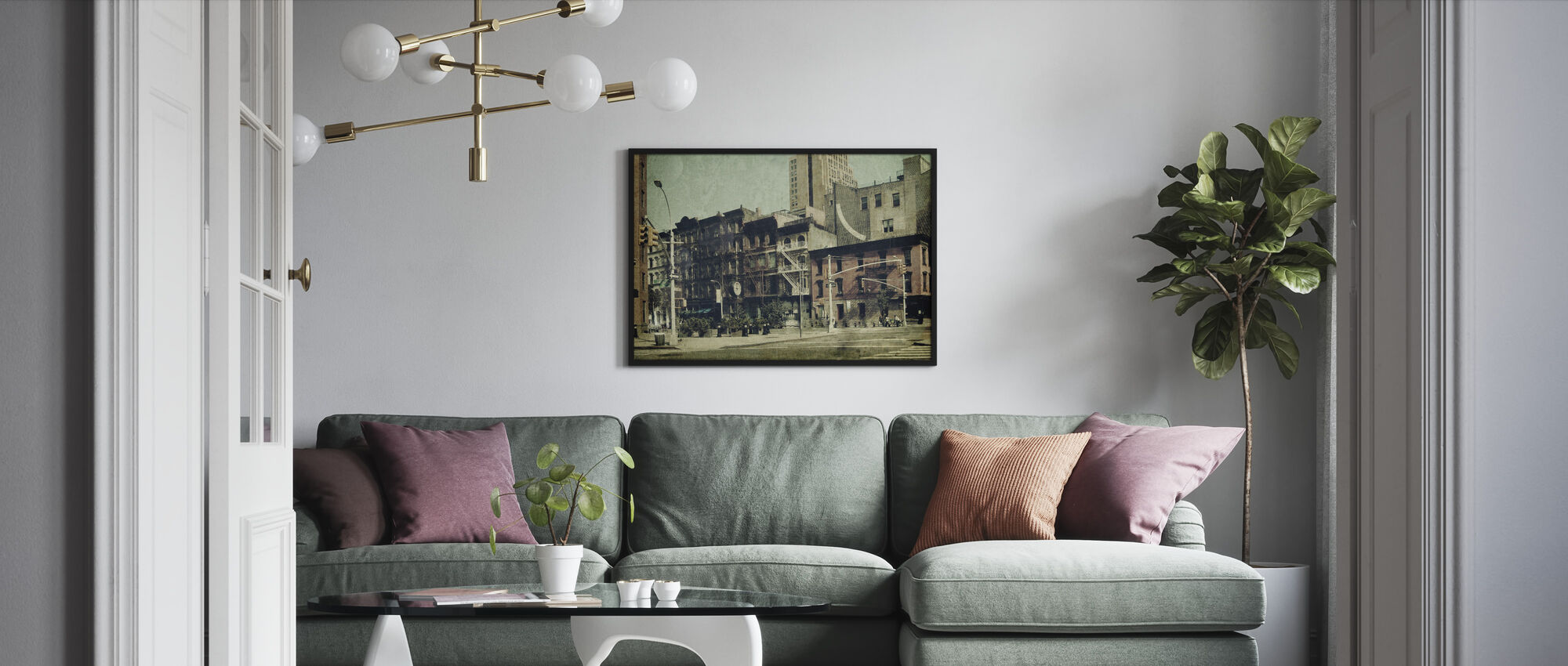 New York City - Sixth Avenue - Framed print - Living Room