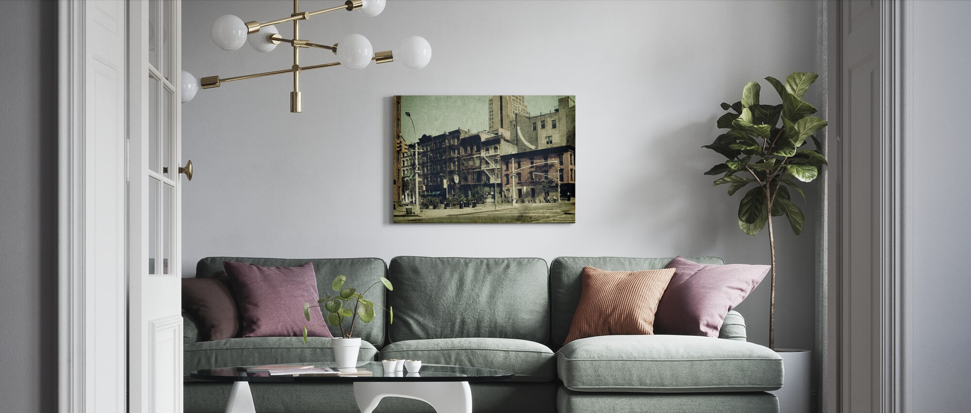 New York City - Sixth Avenue - Canvas print - Living Room