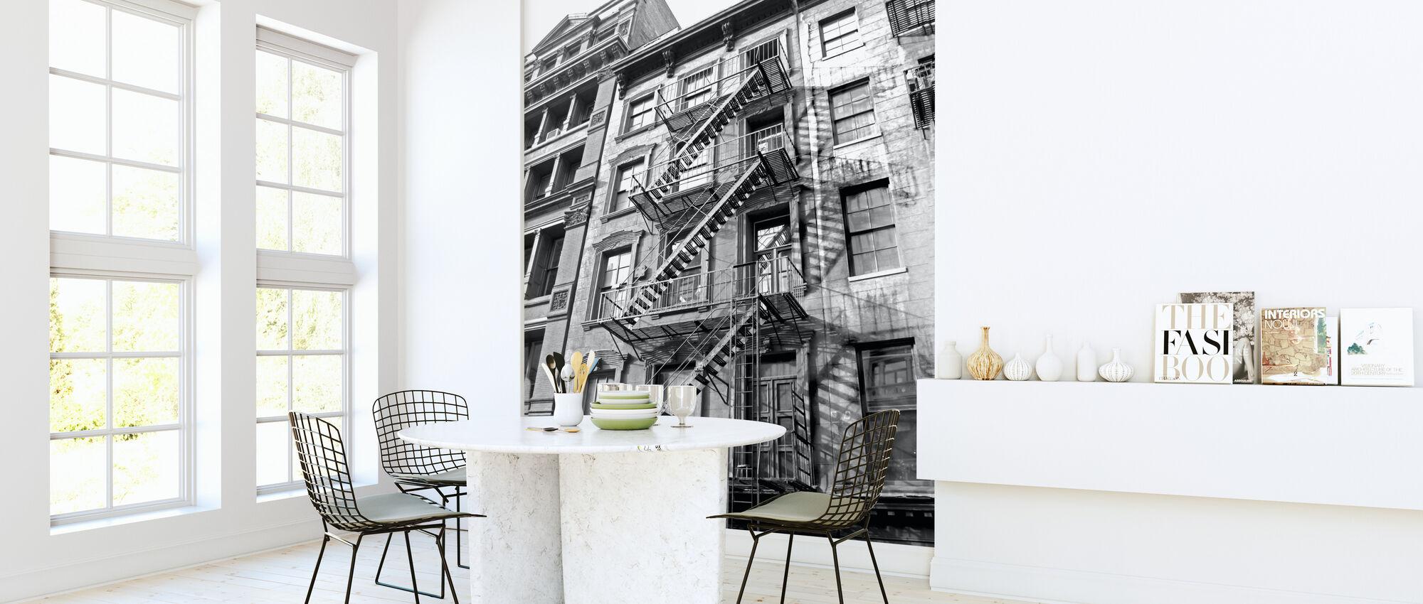New York City - Fire Escape - Wallpaper - Kitchen