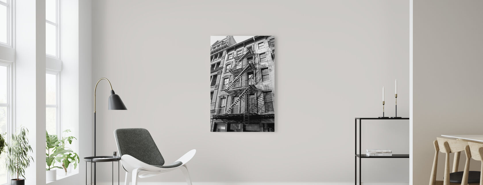 New York City - Fire Escape - Canvas print - Living Room