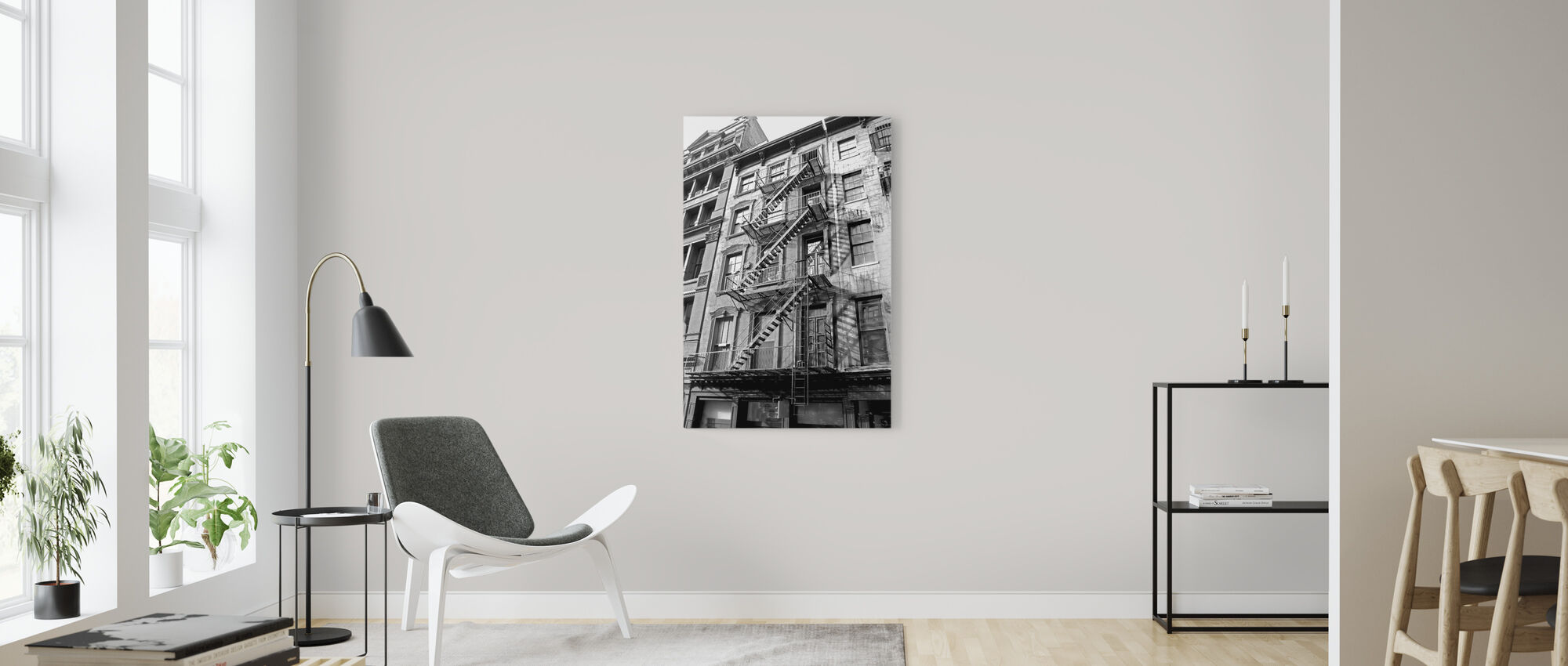 New York City - Fire Escape - Canvas print - Living Room