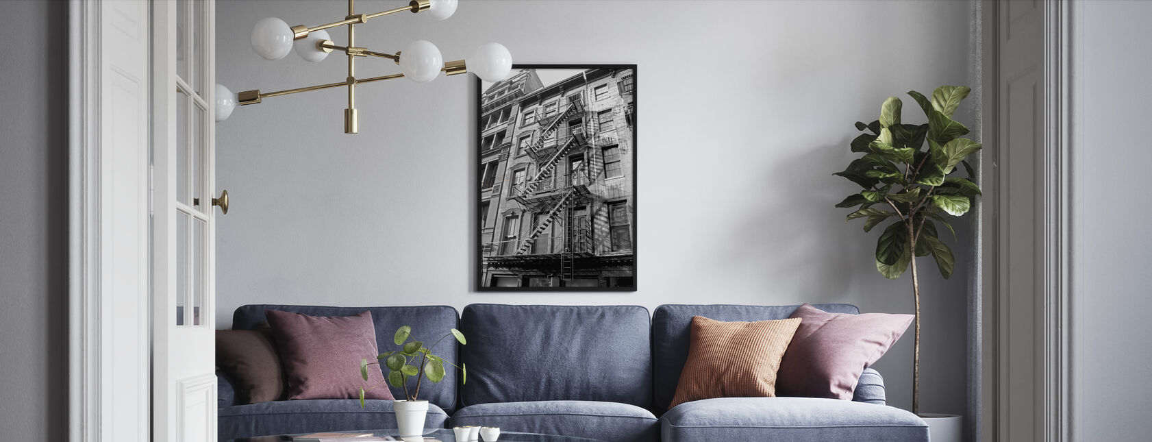 New York City - Fire Escape - Framed print - Living Room