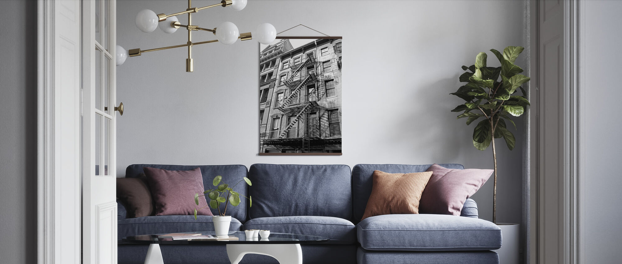 New York City - Fire Escape - Poster - Living Room